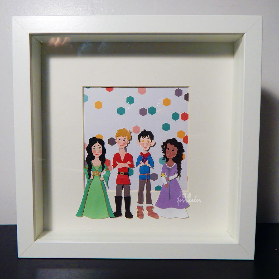 Merlin Papercuts by thesearejessicakes