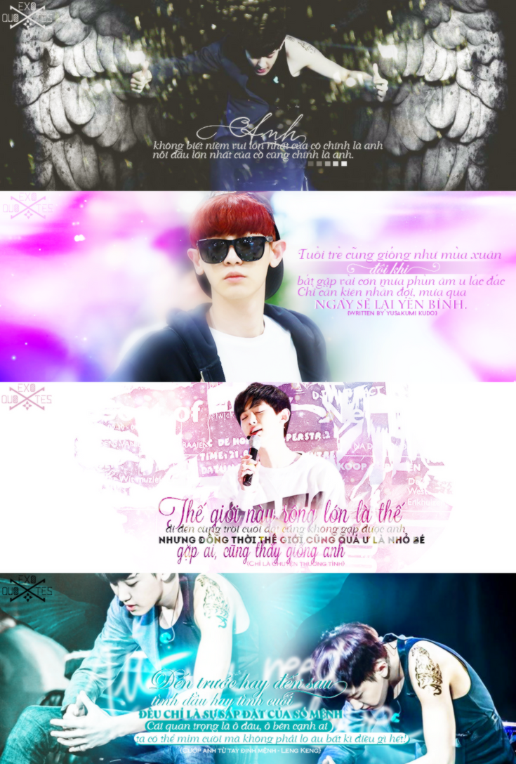 [EXO Quotes] Project HPBD Chanyeol by LPuKirino