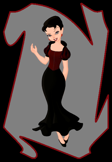 Wanda in a dark princess dress by PiccoloFreakNamick