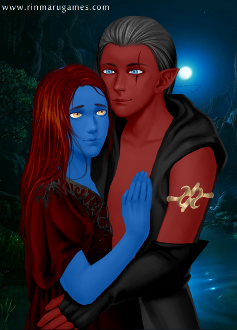 Reunited Mystique and Azazel by PiccoloFreakNamick