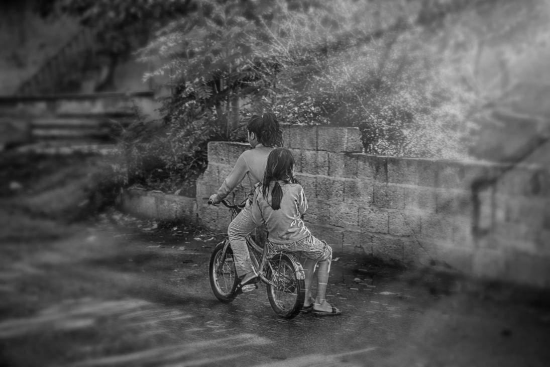 Girls Vs Bike by mfu1986