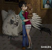 The Kiss in Buckbeak's Room by gwendy85