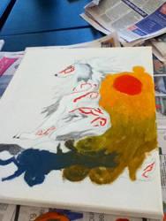 Okami painting