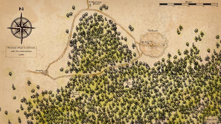 1. Fortaare Regional Map