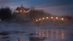 Bentendo- japanese buddhist temple, winter version