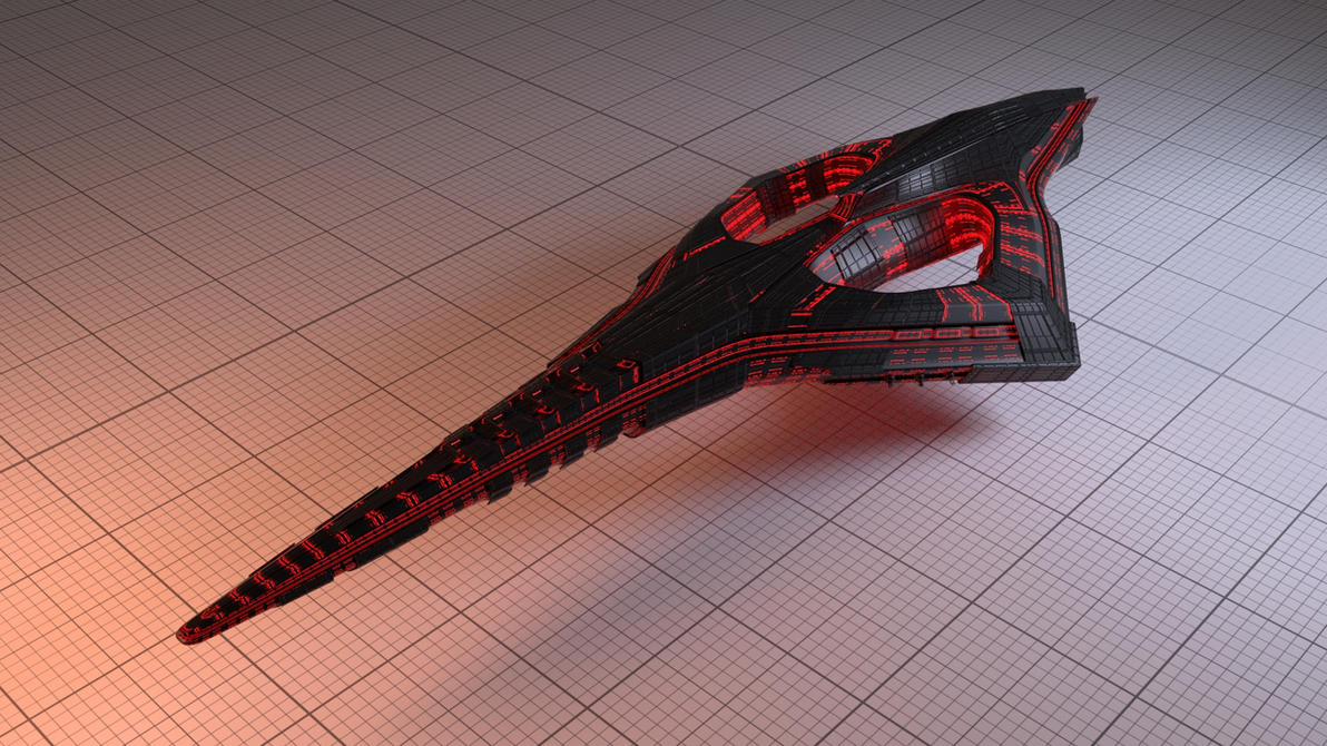 Starship concept by blenderjackangel