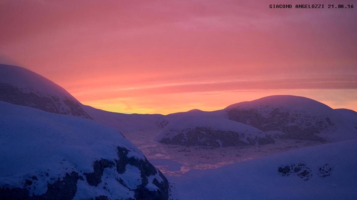 Glacier at Dawn by blenderjackangel