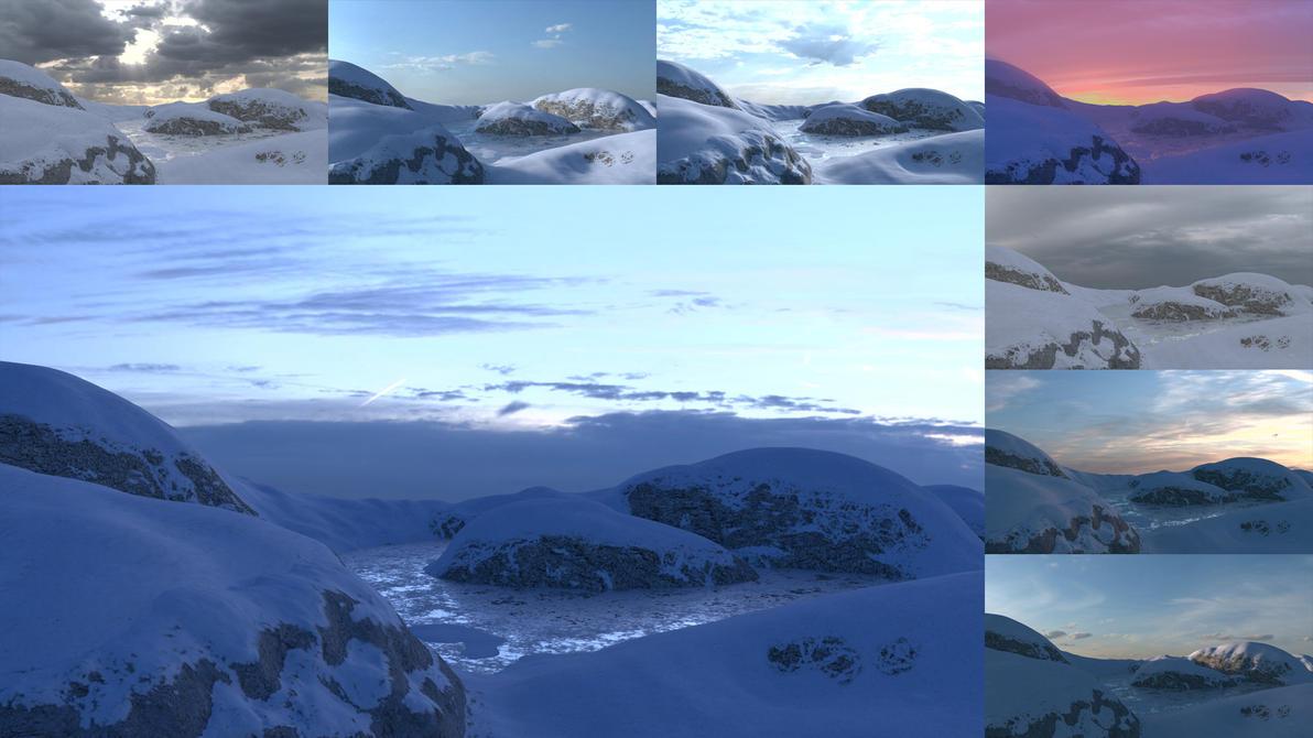 Glacier lighting test by blenderjackangel