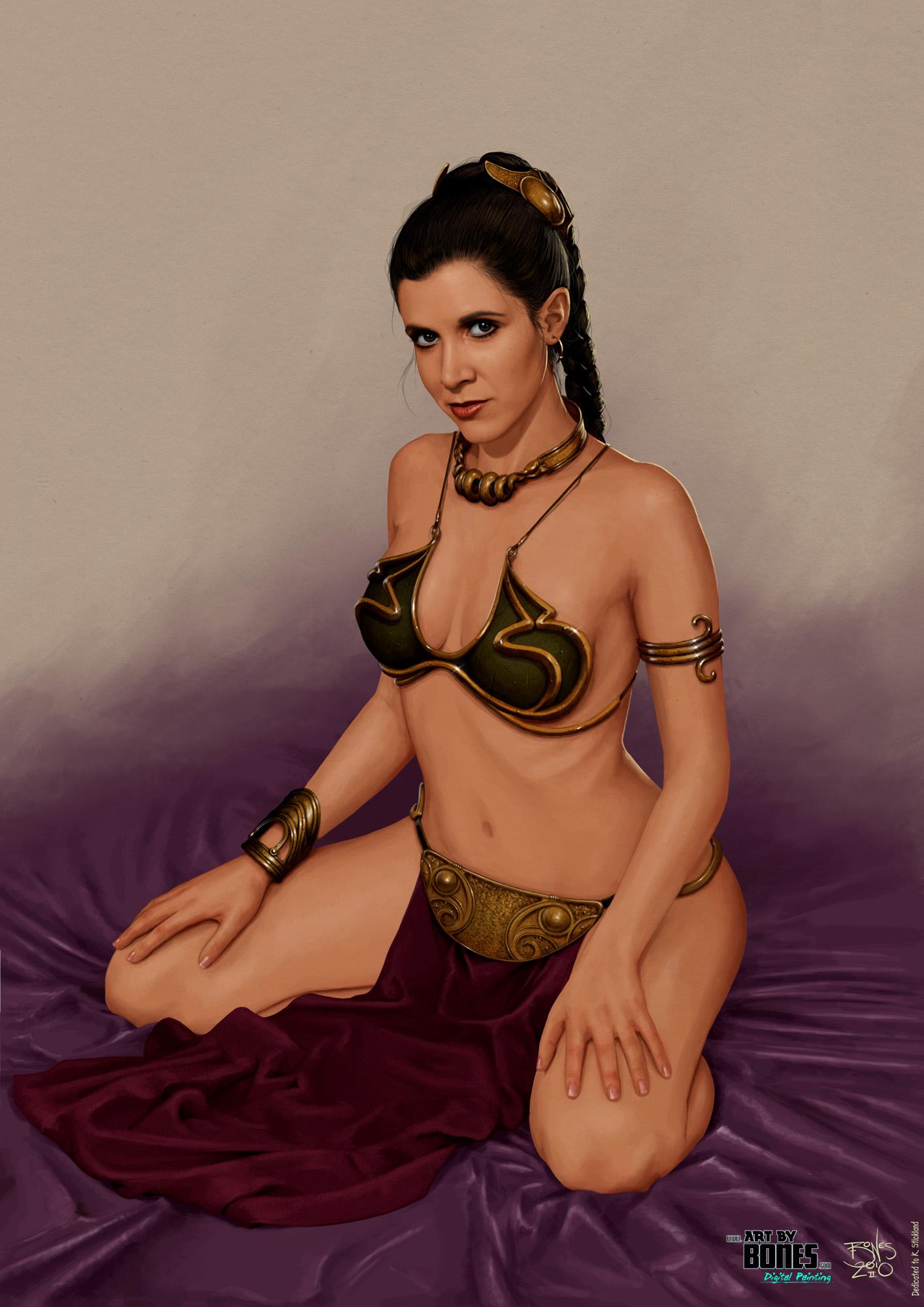 Cosplay slave leia wars star princess