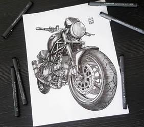 Ducati Monster! by myudamageeee
