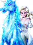 Ice Queen and the Nokk #frozen2 by myudamageeee