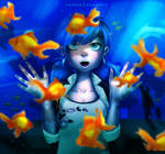 INKTOBER DAY 1 - FISH by myudamageeee
