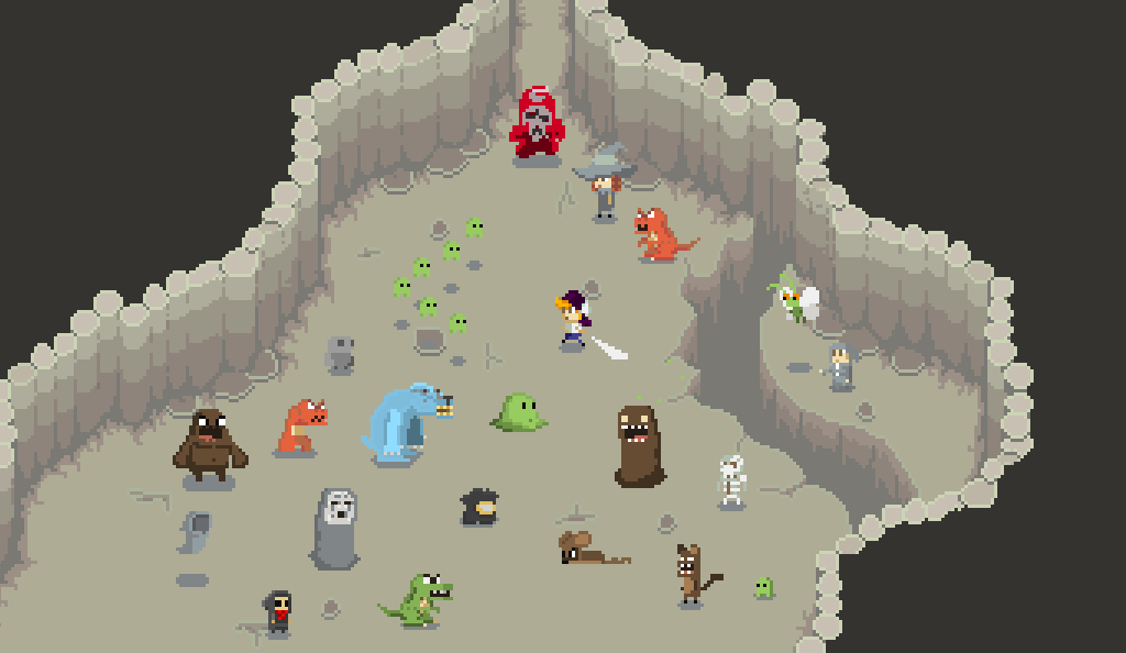 Alot of Enemies from Guardians of the Rose by PixelxPixelGames