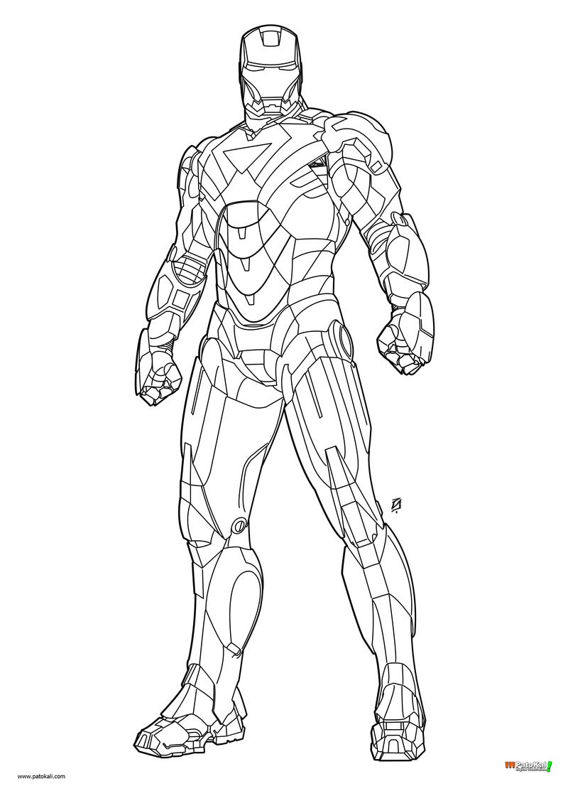 how to draw iron man mark 42