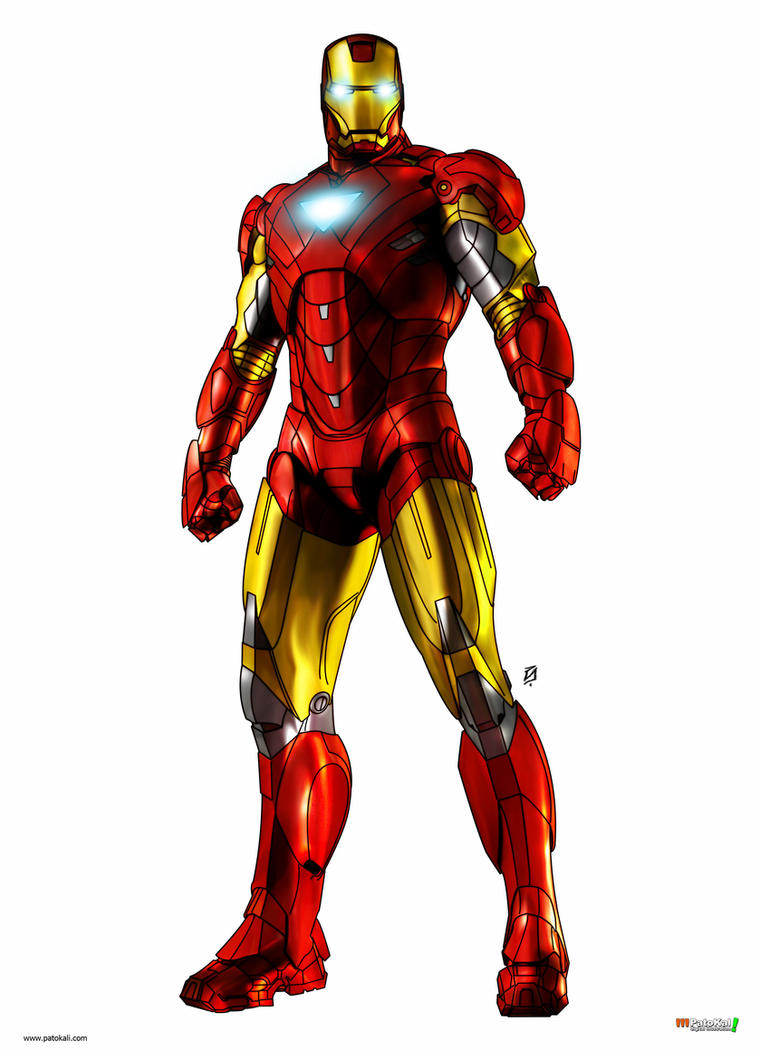iron man color by patokali - Iron Man Pictures To Colour