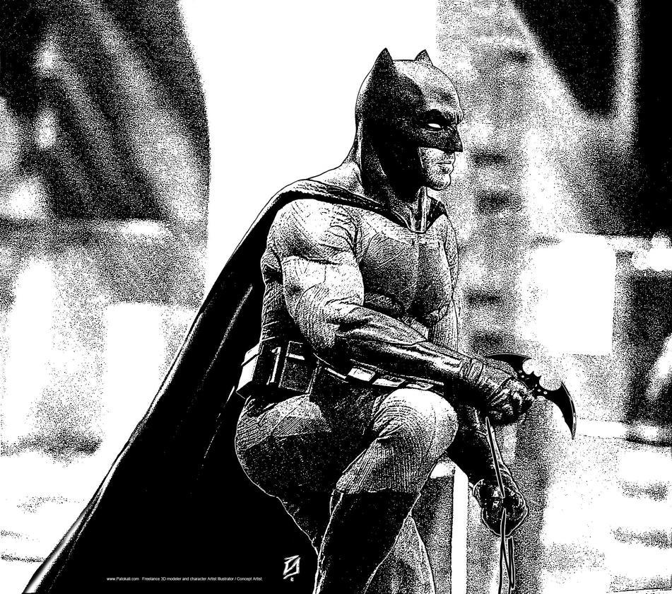 Batman-BW-0015 by patokali