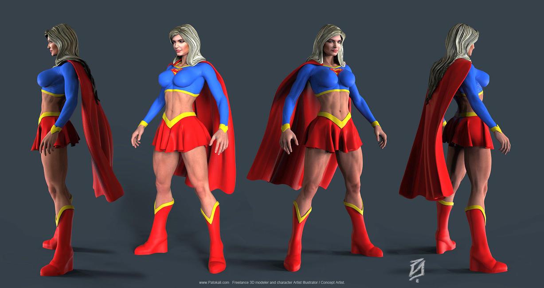 Supergirl-Bulk-Toon by patokali