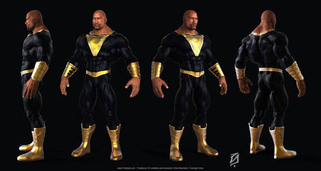 Black-Adam-Toon