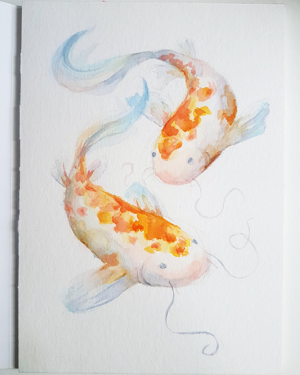 Watercolour Painting Koi Fish By Wonsun On Deviantart