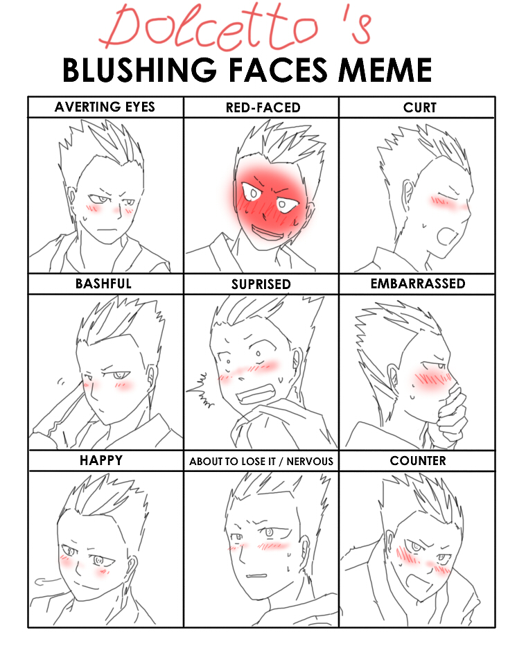 dolcetto__s_blushing_faces_meme_by_fmabigfan d3kelnr handsome face meme by crimson firefox meme in pixmine