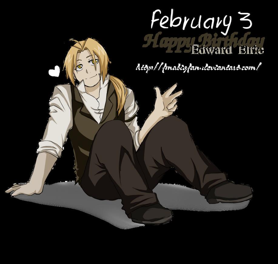 Happy Birthday Edward Elric by fmabigfan