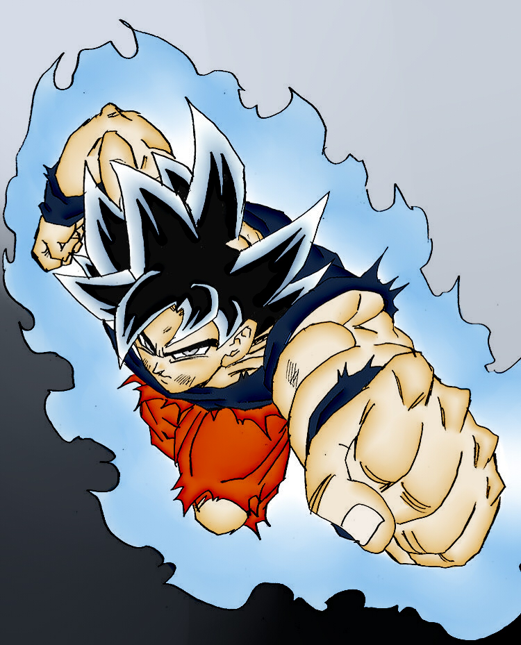Goku Ultra Instinct Free Coloring Pages