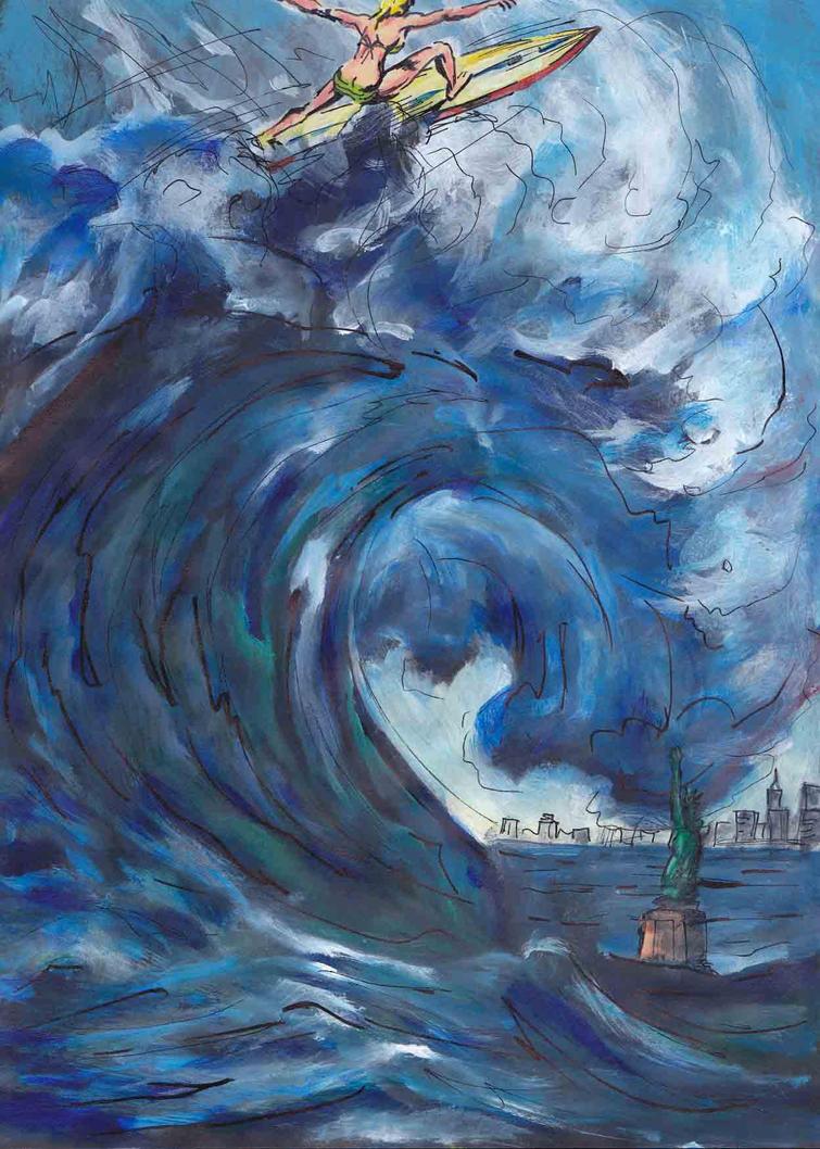Surfer tsunami
