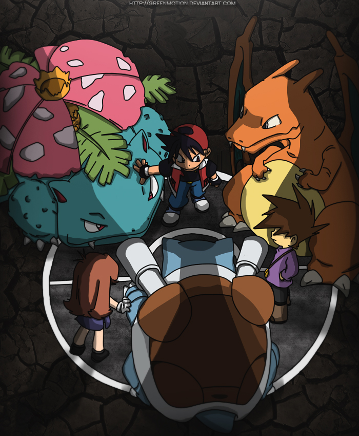 Red, Green, Blue Pokemon Special Manga Color by GreenMotion