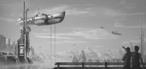 Moored Skyship by dominikzdenkovic