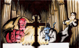 Hellboy and Nightcrawler by bithartist