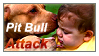 Pit Bull Attack Stamp by Kelii