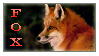 Foxy Fox Stamp by Kelii