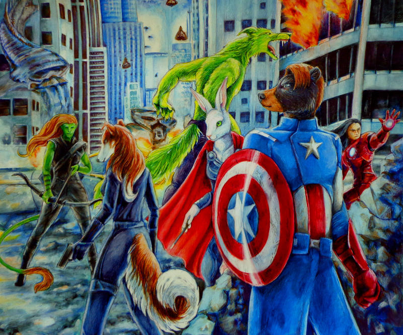 The New Avengers by Kelii