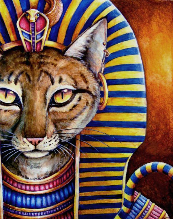 The Cat of the Pharaoh by Kelii
