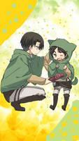 SNK- Levi and Little Eren