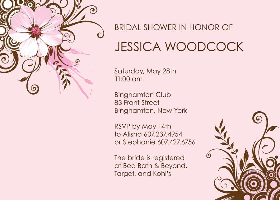 Bridal Shower Invitation by Garconis