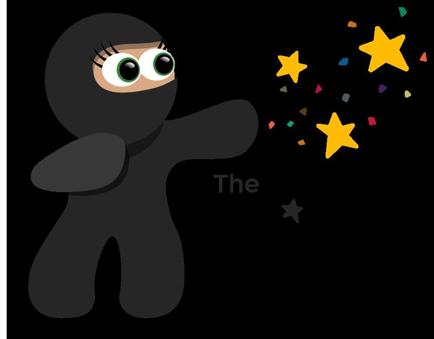 The Glitter Ninja Logo by Garconis