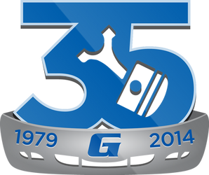 Gary's U-Pull It 35th Anniversary Logo