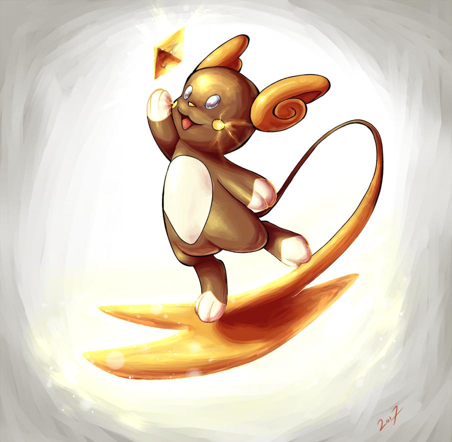 Pokemon - Shiny Alolan Raichu by kiaraneko