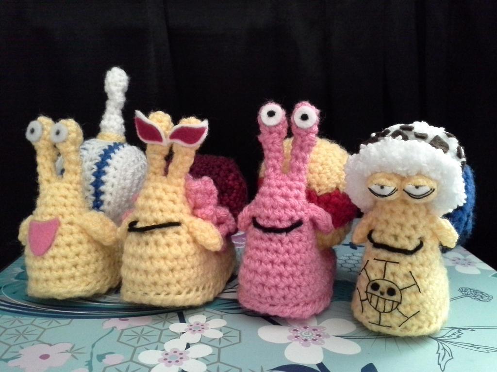 Denden mushi crew by VanillaHigh