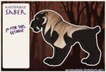 Sabertooth tiger adoptable 1 - open