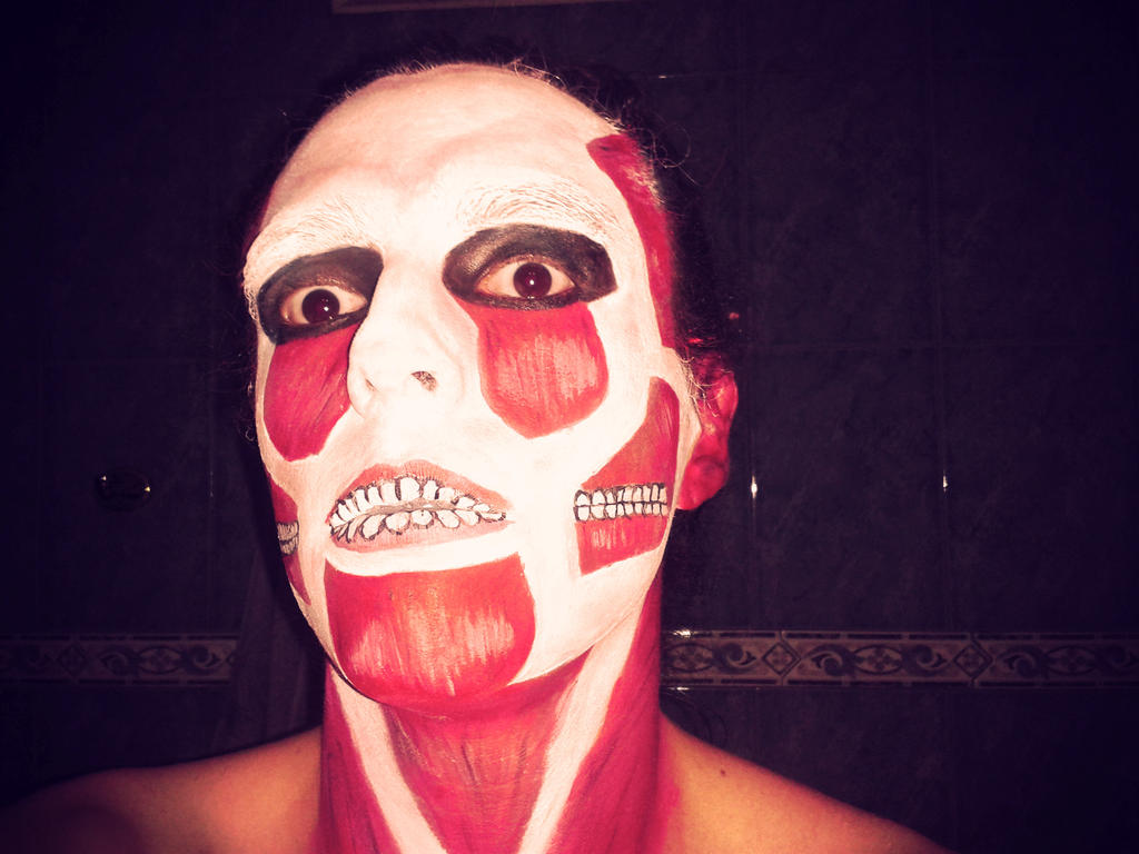 Halloween face paint: Colossal Titan (SNK) by DruiDroid
