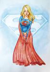 Watercolor supergirl