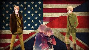 Hetalia America and England