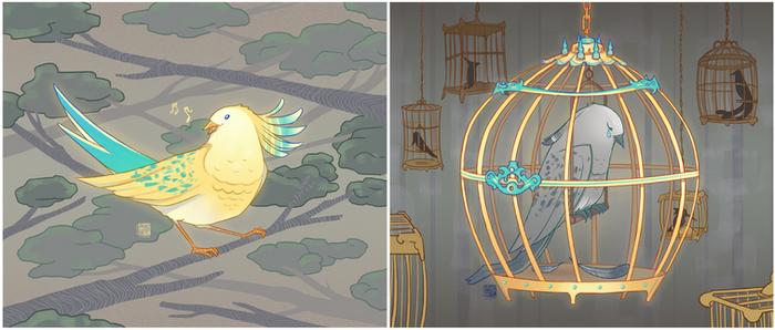 Beautiful bird, beautiful cage