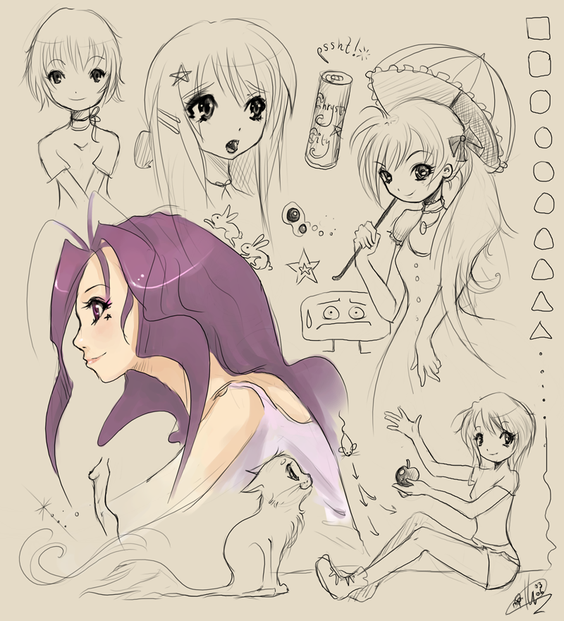 anime doodles by liea