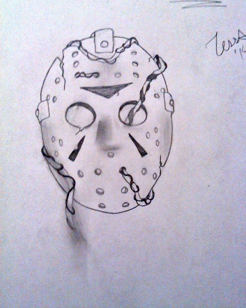 friday the 13th jason mask drawings 31225 loadtve