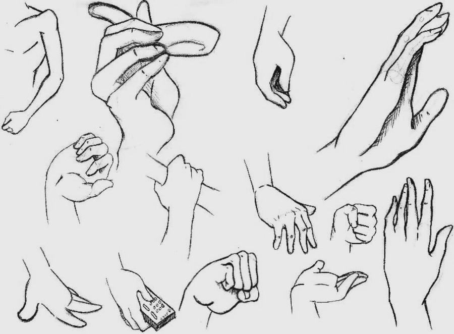 Manga Hands Study by MizMaxter on DeviantArt