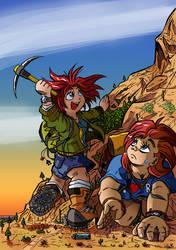 Rock Climbing Is Fun! by labbaART