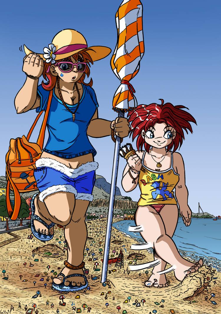 Giantesses On The Beach